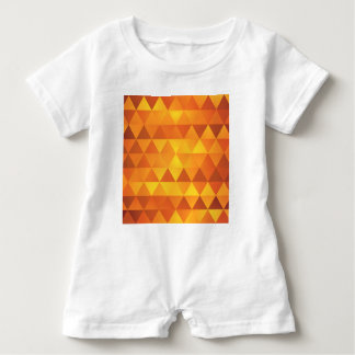 Abstract Yellow Triangles Baby Romper