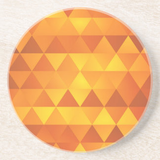 Abstract Yellow Triangles Coaster