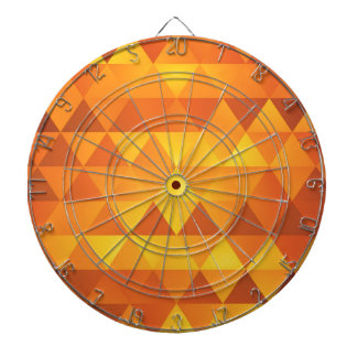 Abstract Yellow Triangles Dartboard