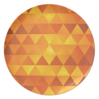 Abstract Yellow Triangles Plate