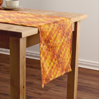 Abstract Yellow Triangles Short Table Runner