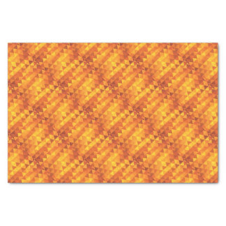 Abstract Yellow Triangles Tissue Paper