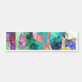 Abstract Yin Yang Nebula Bumper Sticker