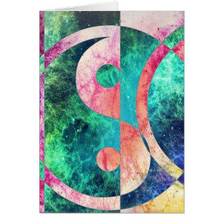 Abstract Yin Yang Nebula Card