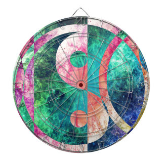 Abstract Yin Yang Nebula Dartboard