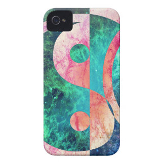 Abstract Yin Yang Nebula iPhone 4 Cases