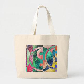 Abstract Yin Yang Nebula Large Tote Bag