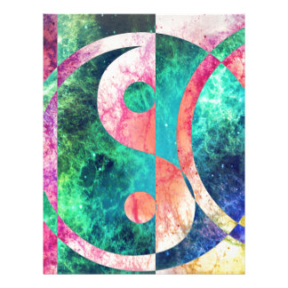 Abstract Yin Yang Nebula Letterhead