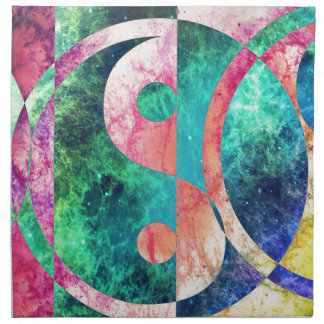 Abstract Yin Yang Nebula Napkin