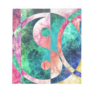 Abstract Yin Yang Nebula Notepad