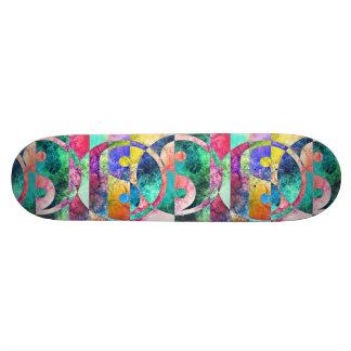 Abstract Yin Yang Nebula Skateboard Deck