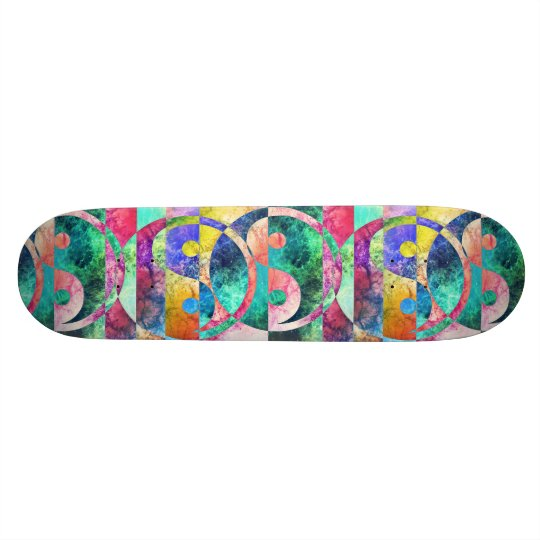 Abstract Yin Yang Nebula Skateboard Deck