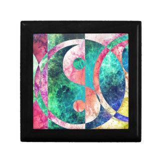 Abstract Yin Yang Nebula Trinket Box