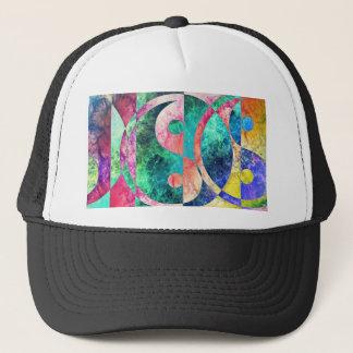 Abstract Yin Yang Nebula Trucker Hat