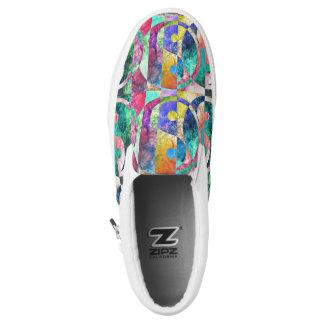 Abstract yin Yang Nebula ZIPZ Slip-On Sneakers