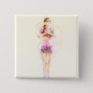 Abstract Yoga Concept Background Illustration 2 Inch Square Button