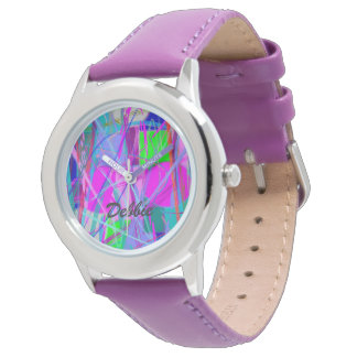 Abstract (your text) wrist watches