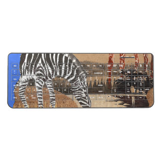 Abstract Zebra Art pattern design Wireless Keyboard