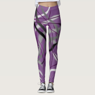 Abstract Zebra Designed Leggings