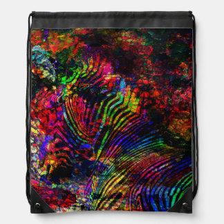 Abstract Zebra Drawstring Bag