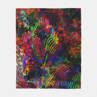 Abstract Zebra Fleece Blanket