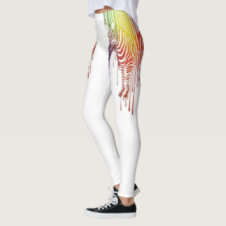 Abstract Zebra Leggings