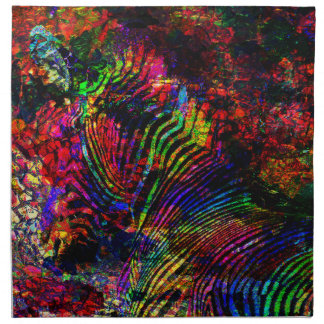 Abstract Zebra Napkin