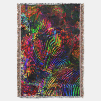 Abstract Zebra Throw Blanket