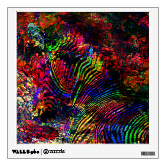 Abstract Zebra Wall Decal