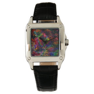 Abstract Zebra Watch