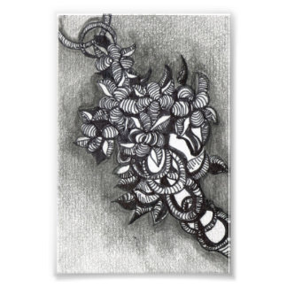 Abstract. Zentangle Inspired. A Cluster of Tangles Photograph