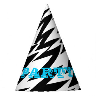 Abstract Zigzag Party Hat