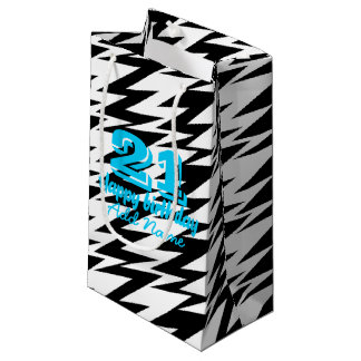 Abstract Zigzag Small Gift Bag