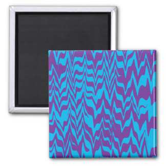 Abstract ZigZag Swirl Square Magnet