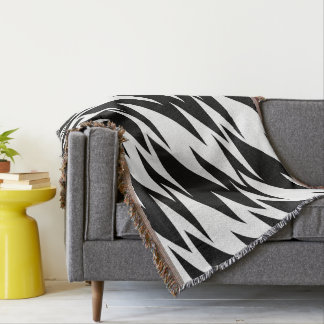 Abstract Zigzag Throw