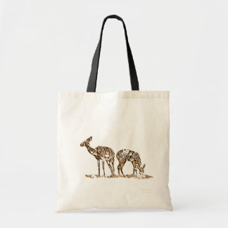 Abstracted Kudus Budget Tote Bag