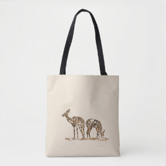 Abstracted Kudus Tote Bag