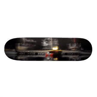 abstracted photograph, boats skateboard