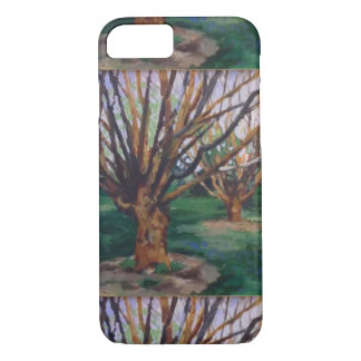 Abstracted trees I phone case