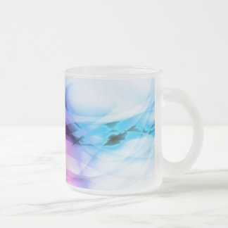 Abstraction 10 Oz Frosted Glass Coffee Mug