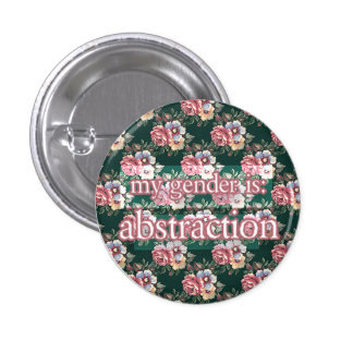 abstraction 1 inch round button
