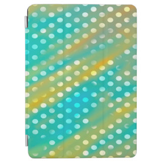 Abstraction Art Blue And Brown White Polka Dots iPad Air Cover