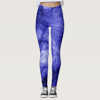Abstraction Art Blue Haze Leggings