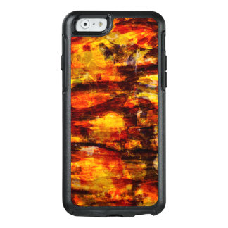 Abstraction Art Brown And Black Feathers OtterBox iPhone 6/6s Case