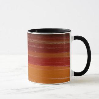 Abstraction Art Brown Wavy Lines Mug