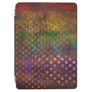 Abstraction Art Colored Grunge Brown Polka Dots iPad Air Cover