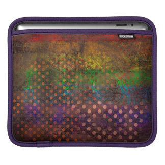 Abstraction Art Colored Grunge Brown Polka Dots iPad Sleeve