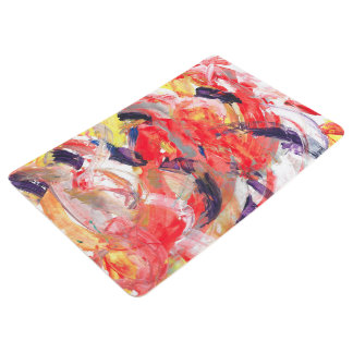 Abstraction Art Colorful Strokes Floor Mat