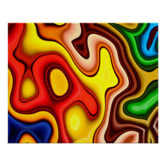 Abstraction Art  Contour Pattern Poster