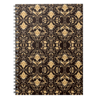 Abstraction Art Damask Pattern Wallpaper Notebooks